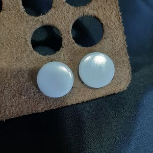 Simple Solid White Flared Gauges